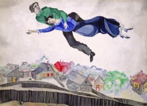 Mark Chagal, over the city 1914-1918